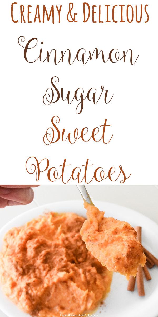 Cinnamon Sugar Sweet Potatoes